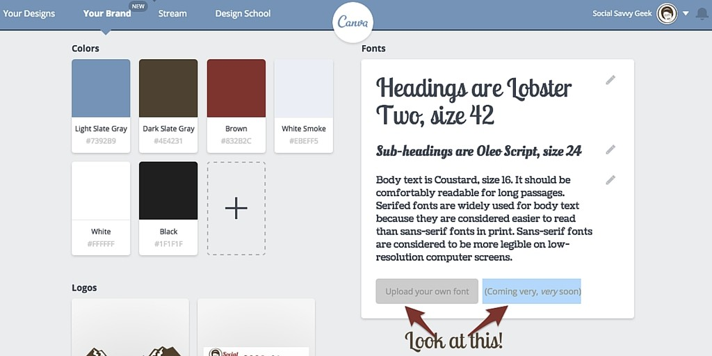 Canva for Work Upload Your Own Fonts Coming Soon