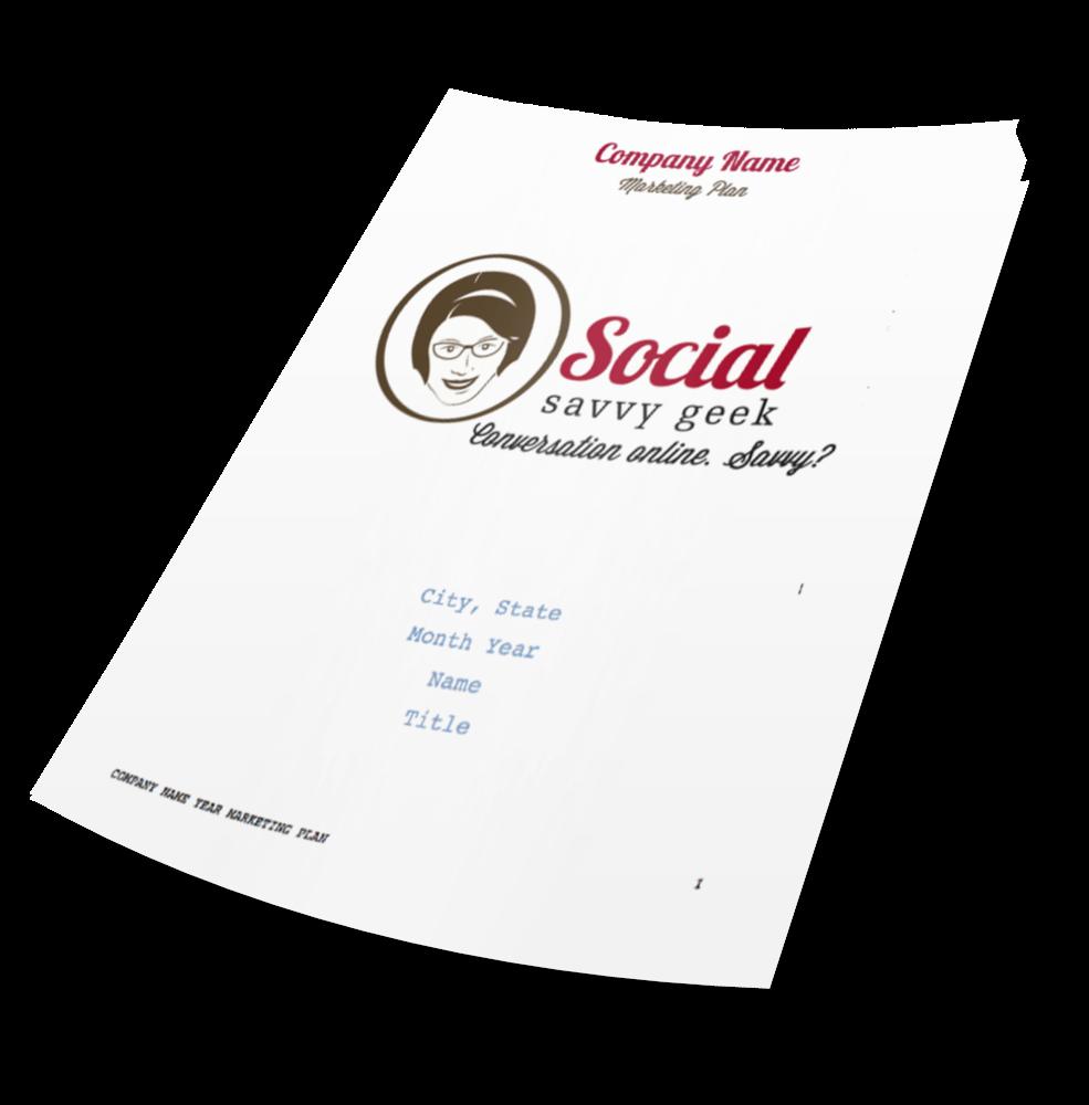 Social Savvy Geek Marketing Plan Template